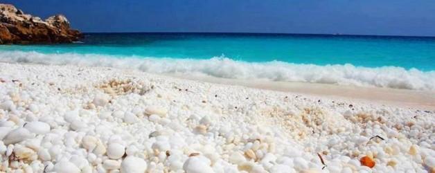 Остров Тасос, мраморный пляж Салиара (Греция)